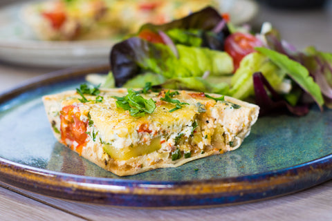 low carb Mediterranean Quiche