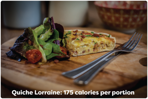 quiche lorraine 175 low calories