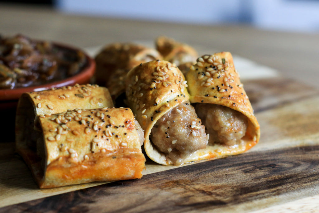 Low carb sausage roll