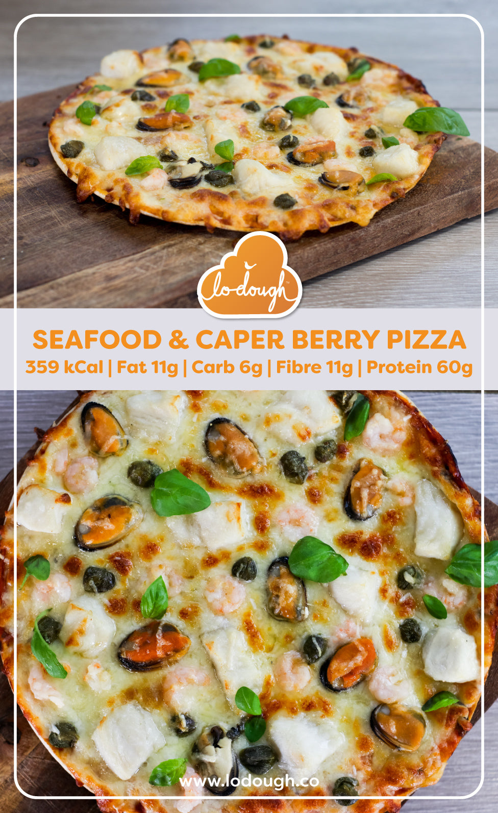 Seafood and Caper Berry Pizza