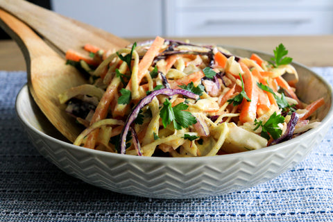 Low Carb Curried Coleslaw