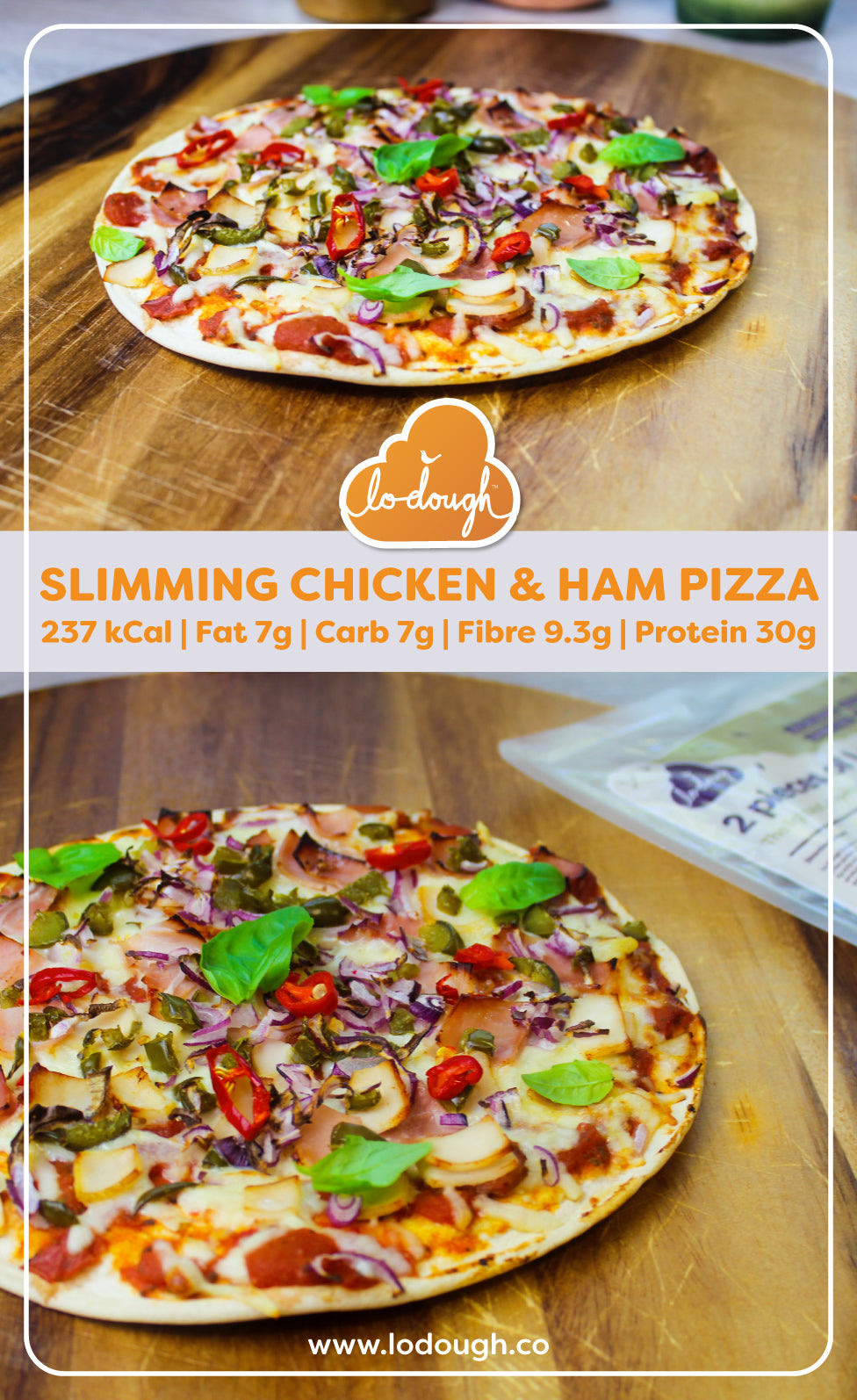 Slimming Chicken Ham Pizza