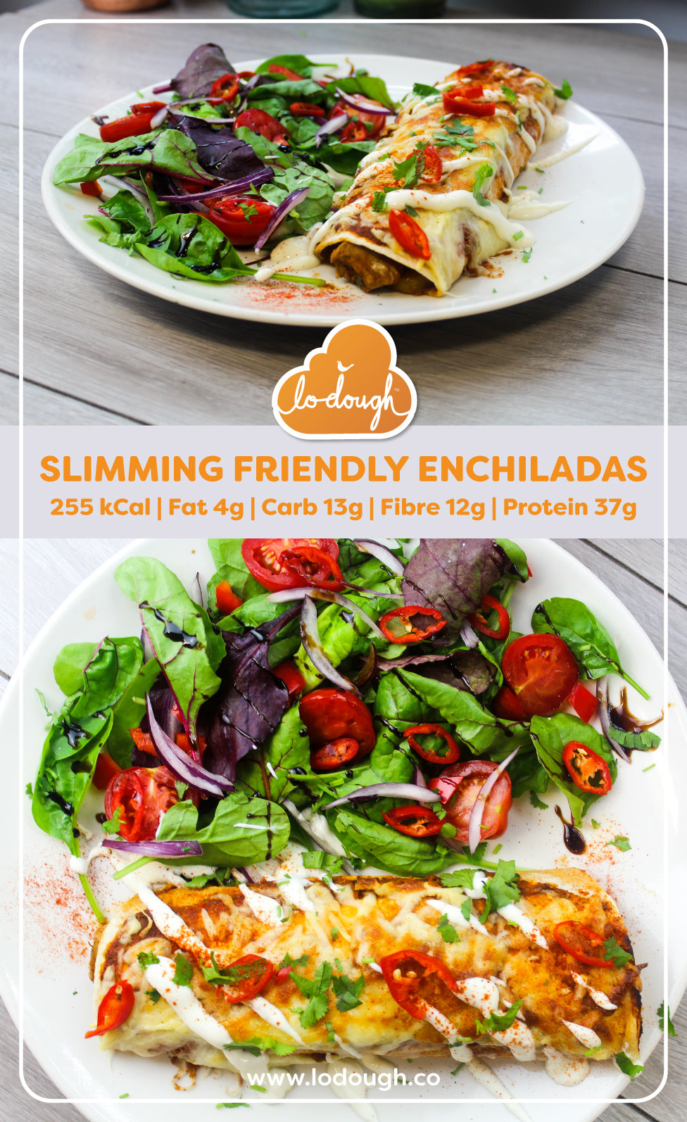 Slimming Friendly Enchiladas