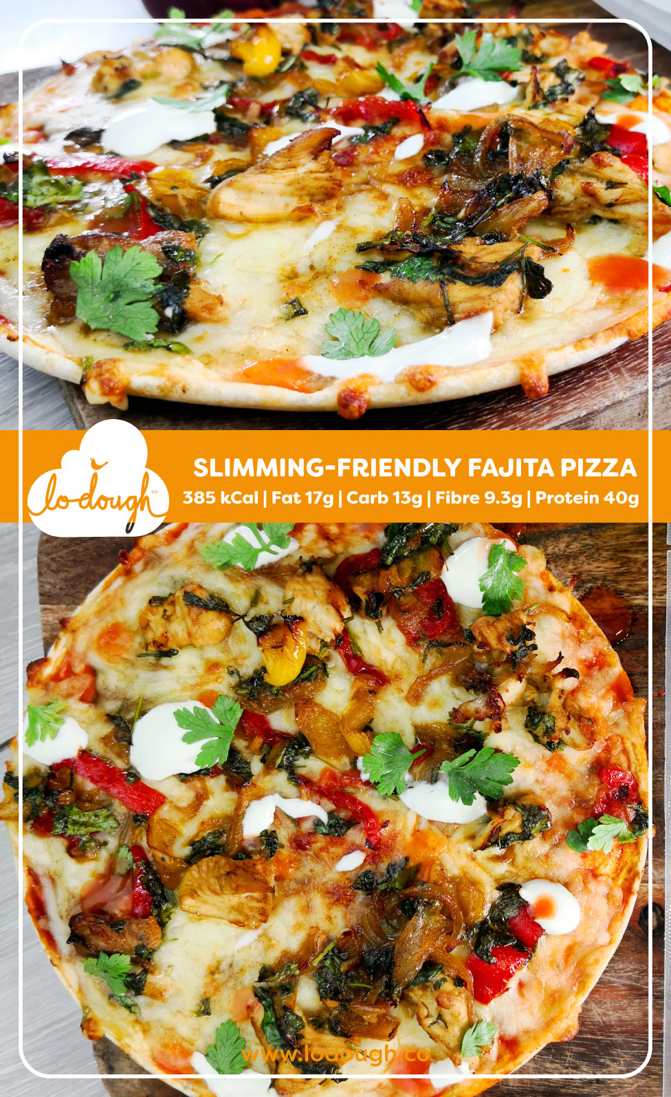Slimming-Friendly Fajita Pizza