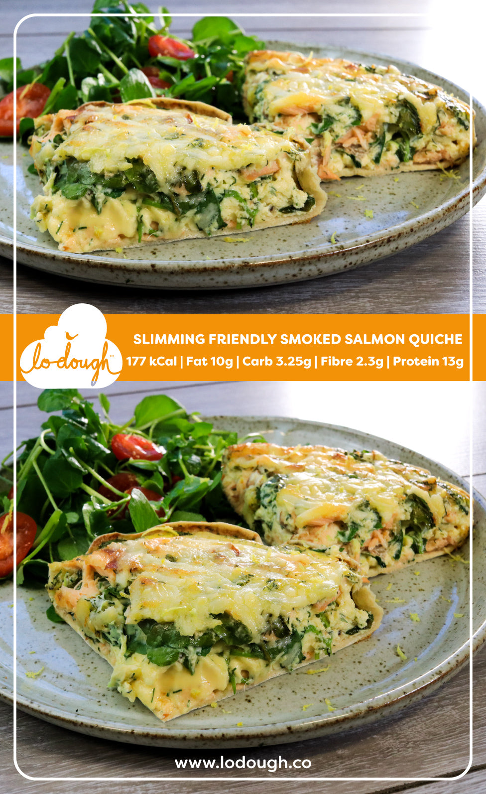 Slimming Friendly Smoked Salmon Quiche