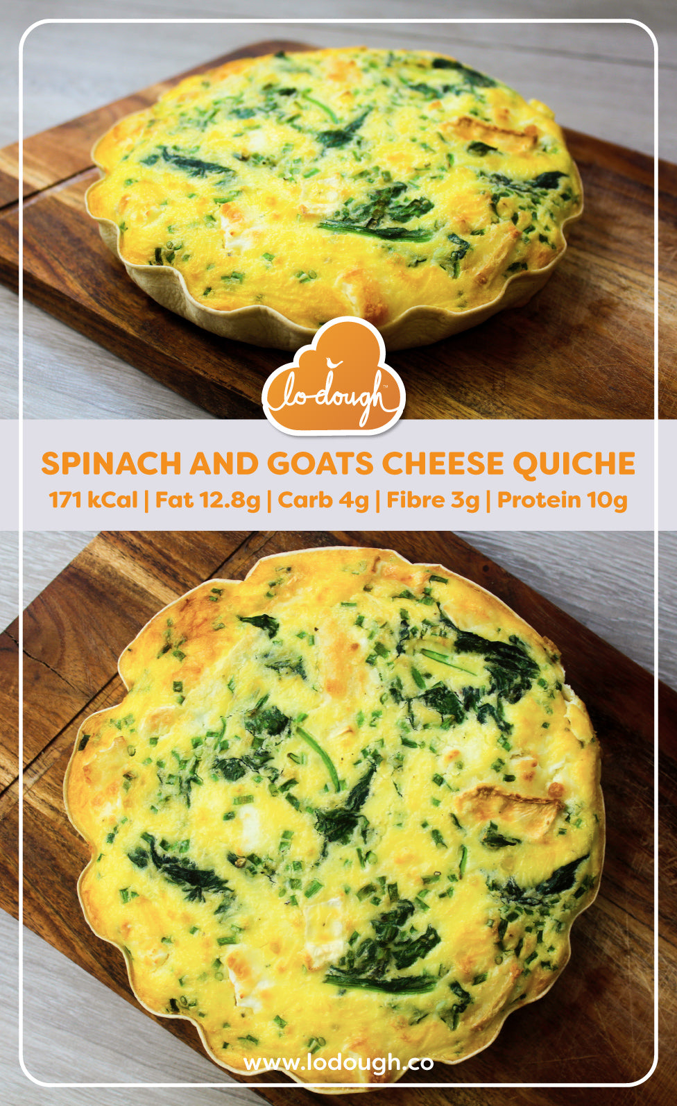 Spinach & Goats Cheese Quiche