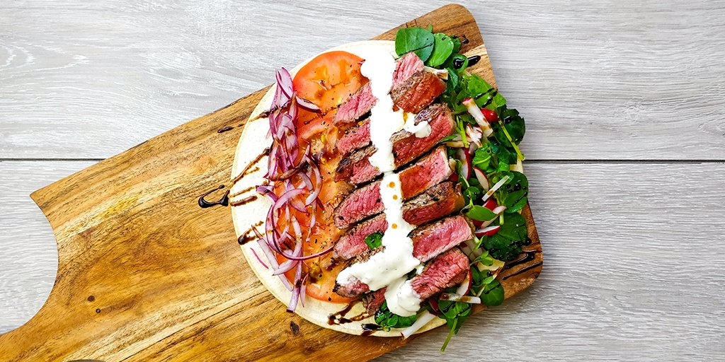 Steak & salad wrap