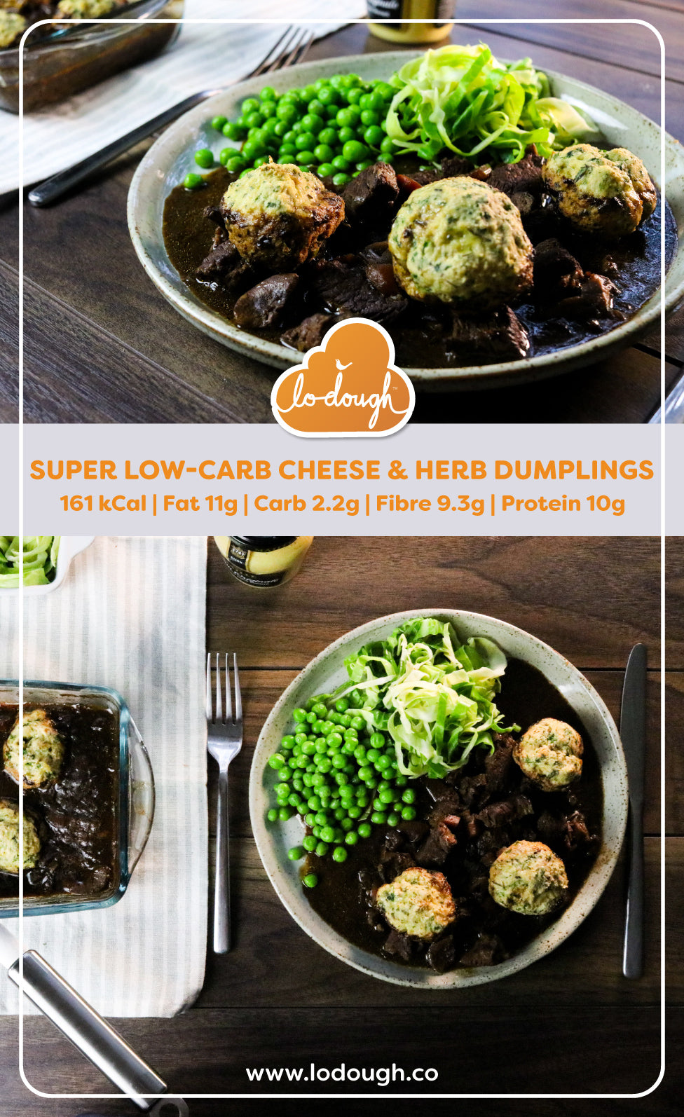 Low Carb Cheese and Herb Dumplings