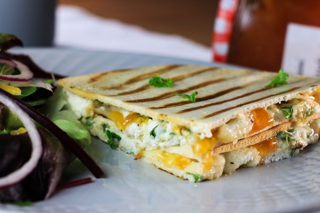 low calorie toastie goats cheese