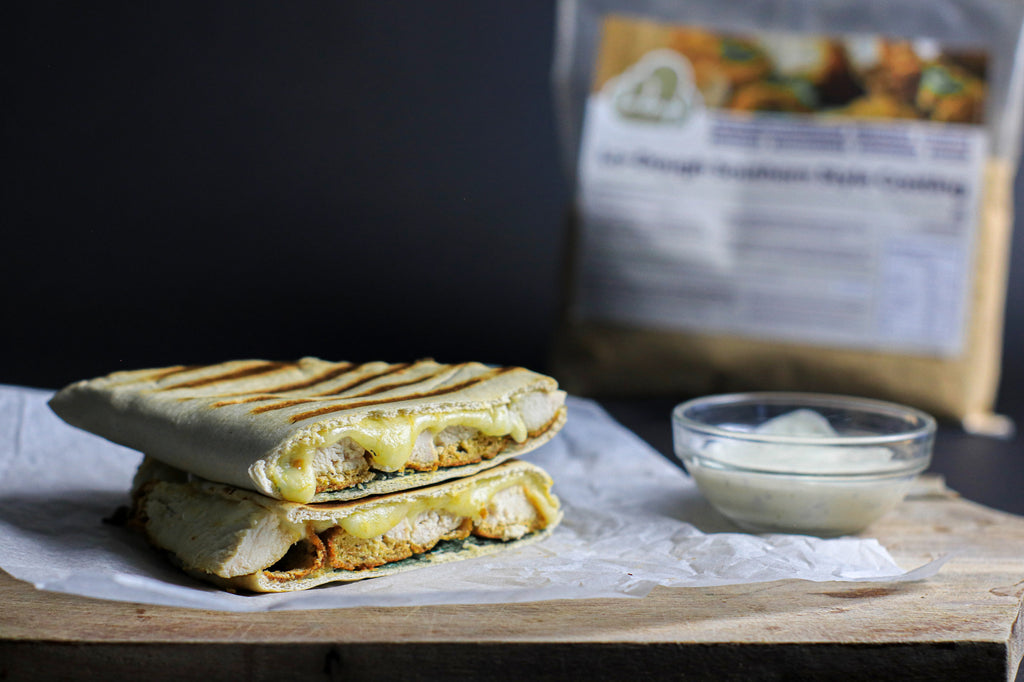 Low carb chicken and cheese toastie