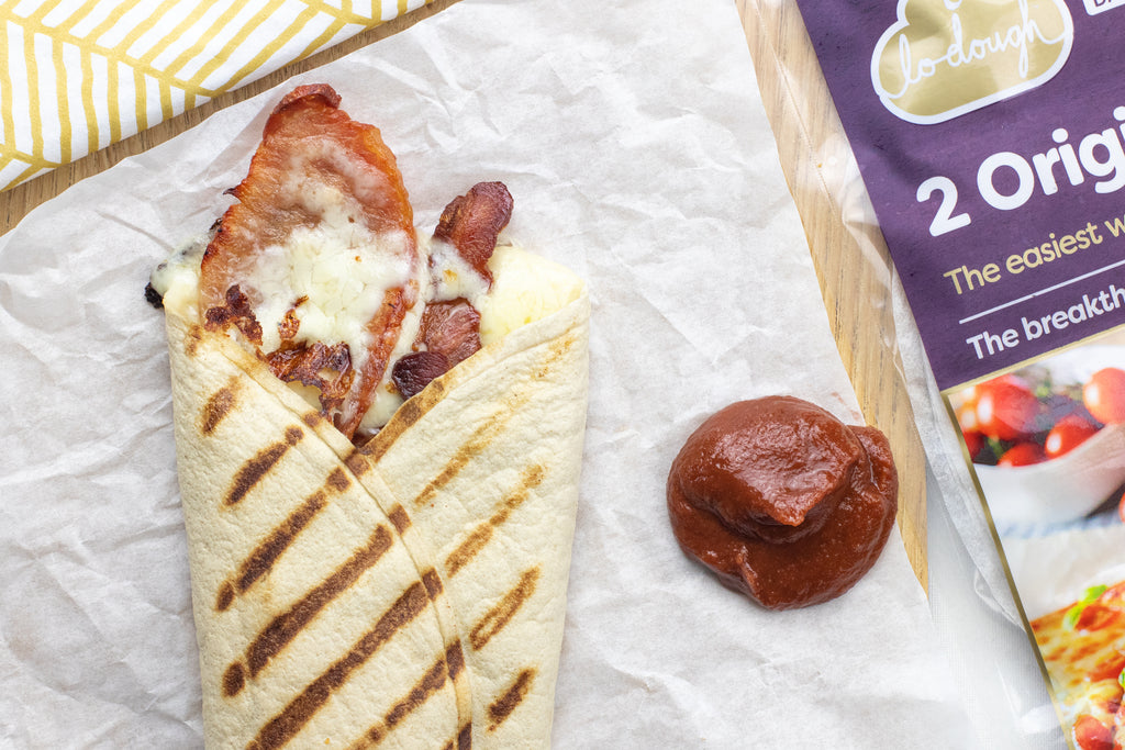 Bacon and cheese toasted wrap