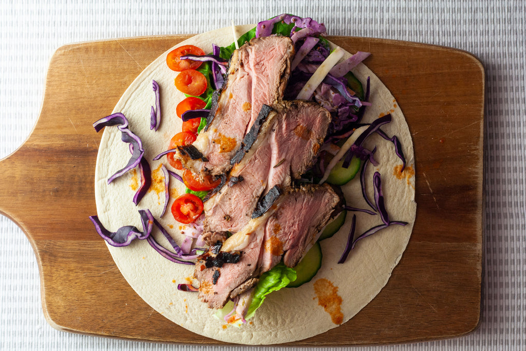 low carb bbq lamb wrap