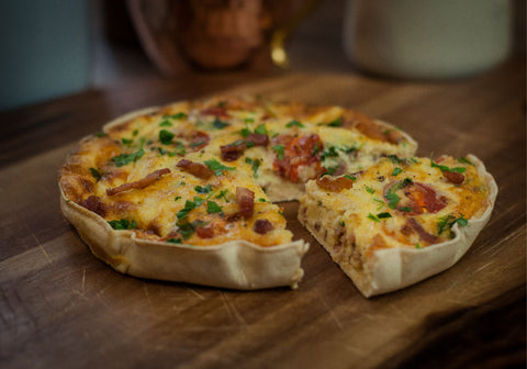 Lo-Dough quiche