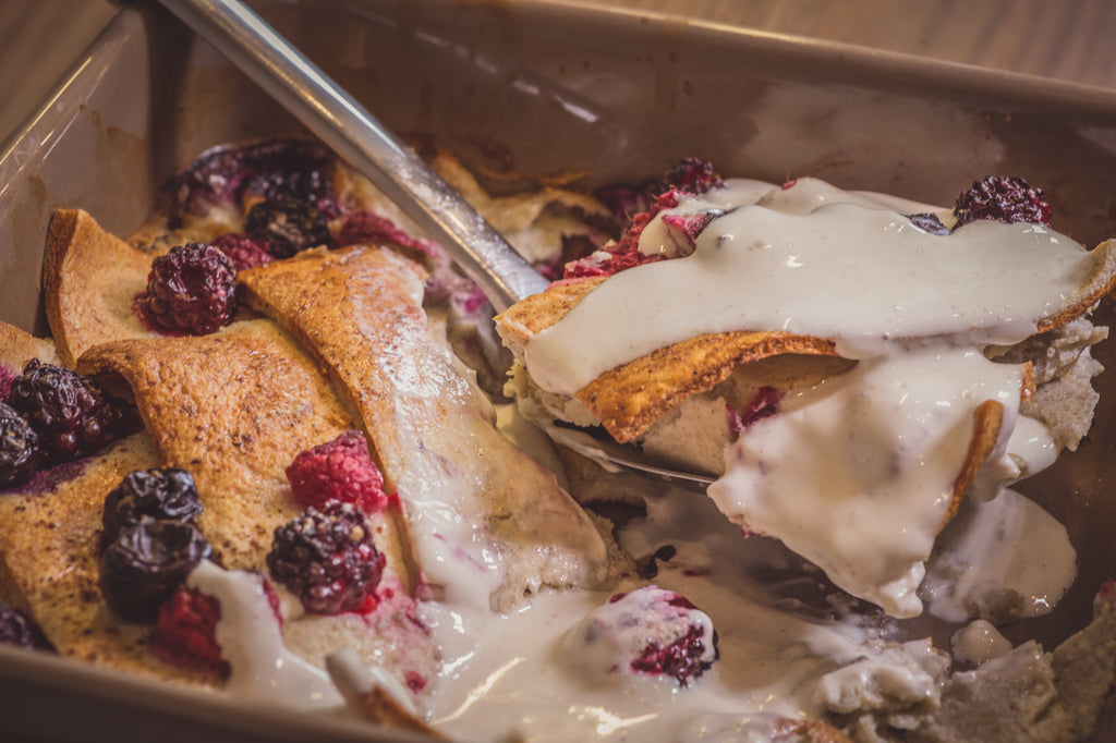 low carb bread and butter pudding