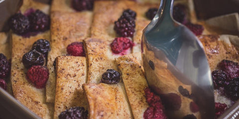 low calorie bread and butter pudding