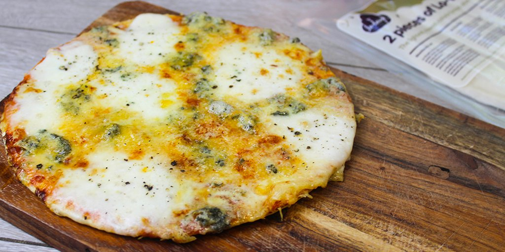 Low Calorie Four Cheese Pizza