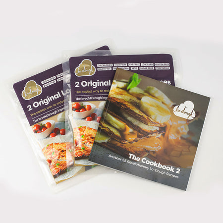 Lo-Dough Cookbook Vol 2. PLUS 4 Free Lo-Dough Bases