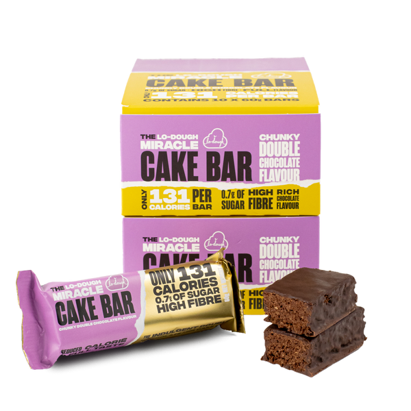 Lo-Dough Miracle Cake Bar - Chunky Double Chocolate