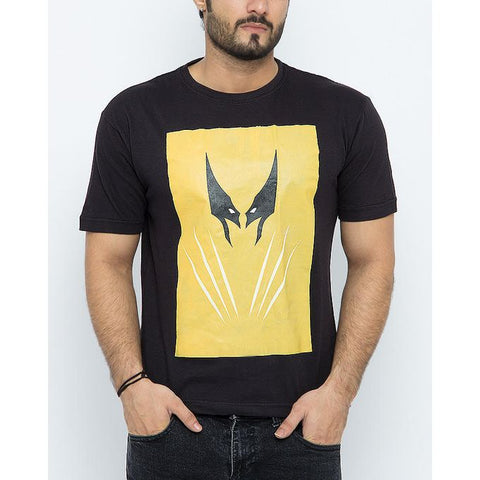 The Ajmery - Cotton Exclusive Wolverine Printed T-Shirt For Men - Black