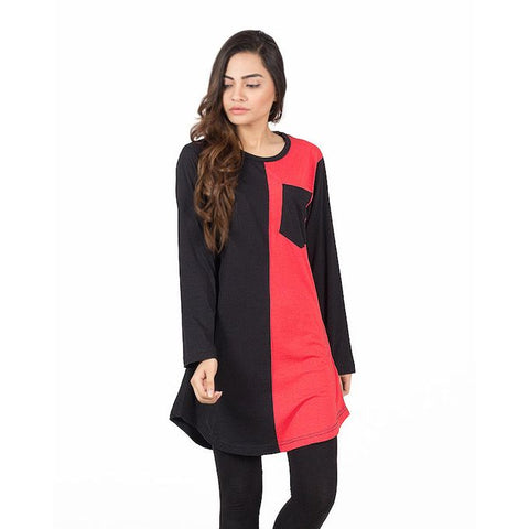 Ajmery Enterprise - Viscose Tunic For Women - KTY-13 - Black & Red