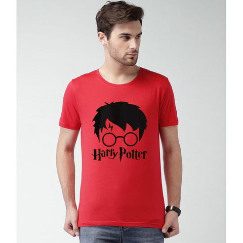 Ajmery Enterprise - Cotton Harry Potter Printed Tshirt For Men - Hpt-R123 - Red
