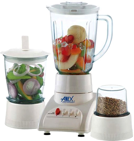Anex - Pack of 3 - Blender With 2 Grinders - AG-6023 - White