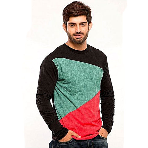 Cotton Panel T-Shirt for Men - Multicolor