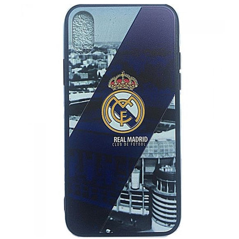Iphone X Back Cover - Madrid Theme - Blue