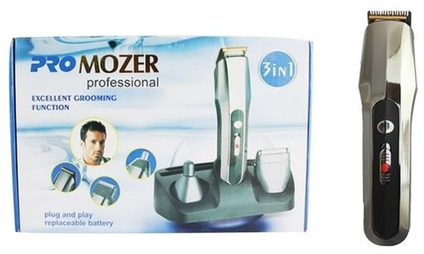 Mozer - 3 In 1 Pro Mozer Trimmer - Silver
