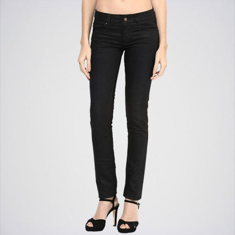 The Ajmery - Women's Low Rise Regular Jeans - Black