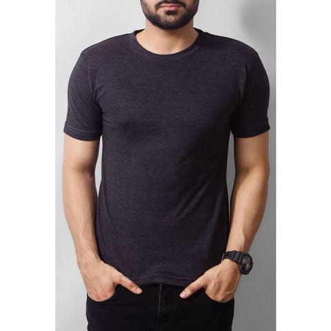 The Ajmery - Cotton T-shirt - Charcoal