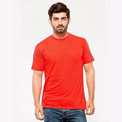 Cotton T-Shirt for Men - Red