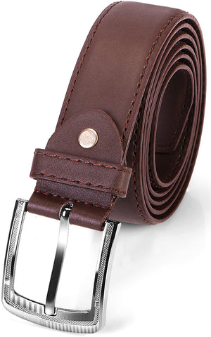 Leather Belt for Men - Dark Brown