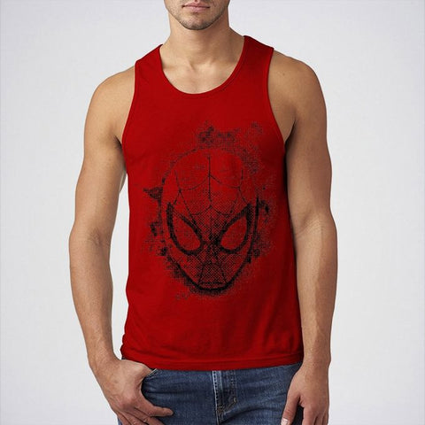 Ajmery Enterprise - Cotton Printed Tank Top For Men - SPD-000 - Red