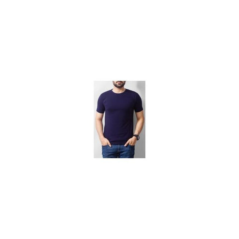 The Ajmery - Cotton Tshirt For Men - Navy Blue