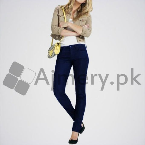 Ajmery Enterprise - Girls Skinny Jeans - JS-999 - Dark Blue