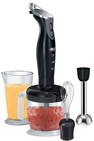 Anex - Dual Speed D/C Motor Hand Blender Set - Black