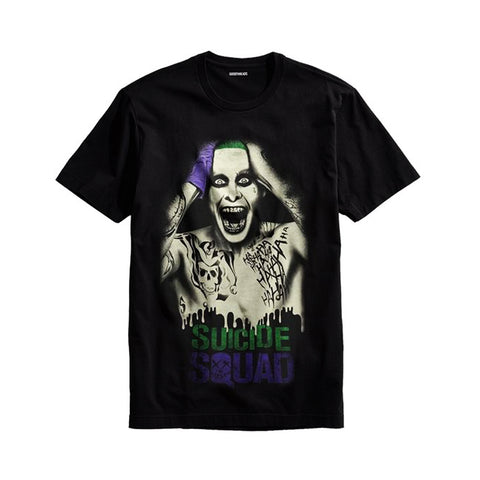 The Ajmery - Men's Suicide Squad Joker Printed T-shirt - Ssj-47 - Black