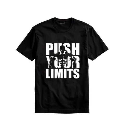 Ajmery Enterprises - Men'S Push Your Limits Printed T-Shirt - Pyl-77 - Black