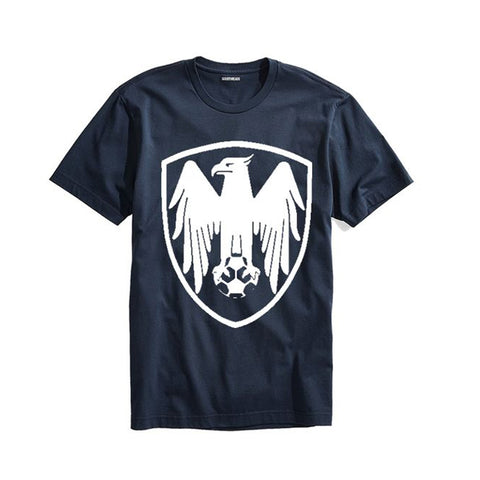 The Ajmery - Men's Football Club Printed T-Shirt - Ftbl-17 - Navy Blue