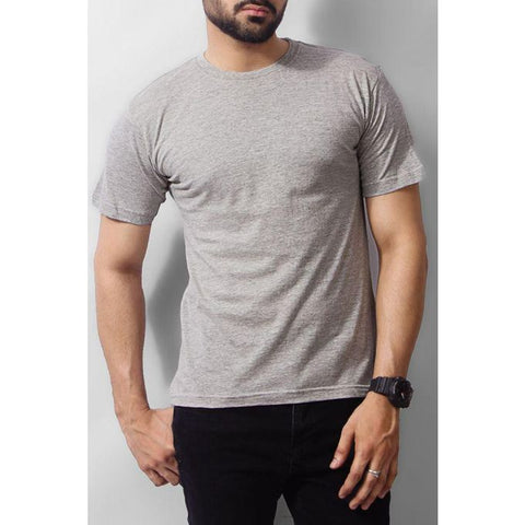 The Ajmery - Cotton T-shirt - Heather Grey