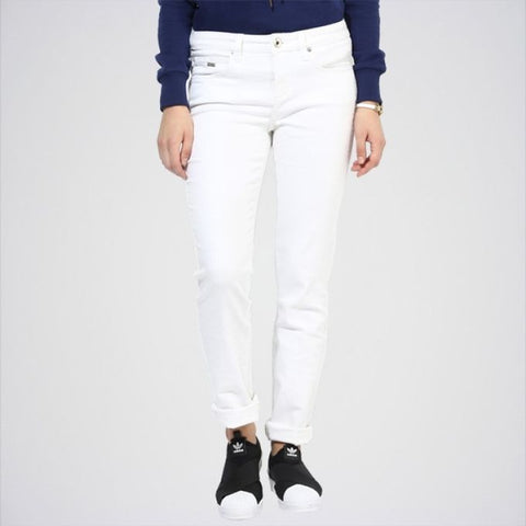 The Ajmery - Women's Solid Jeans - White