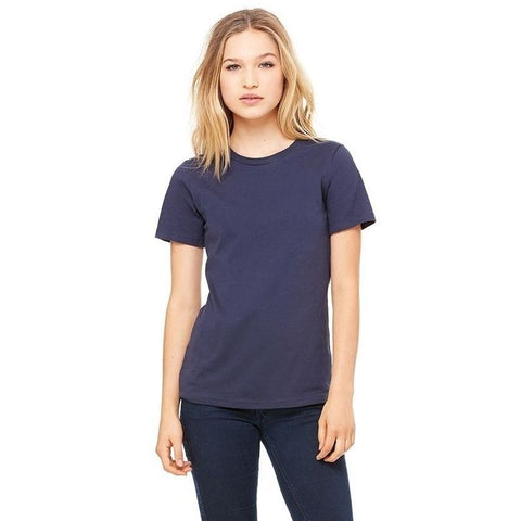 Ajmery Enterprise - Plain Cotton T-Shirt for Women - AJM-1004 - Navy Blue