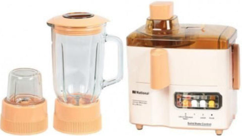National - 3 in 1 Juicer Blender - Beige and White
