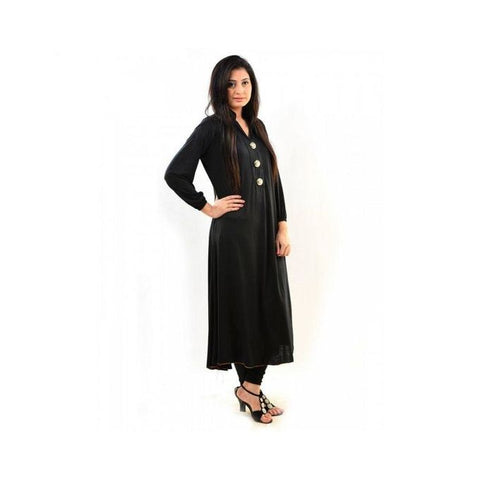 Ajmery Enterprise - Viscose Jalpari Kurta - Black