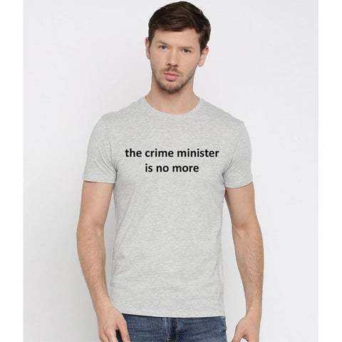 The Ajmery - Men's Crime Minister T-Shirt - Heather Grey