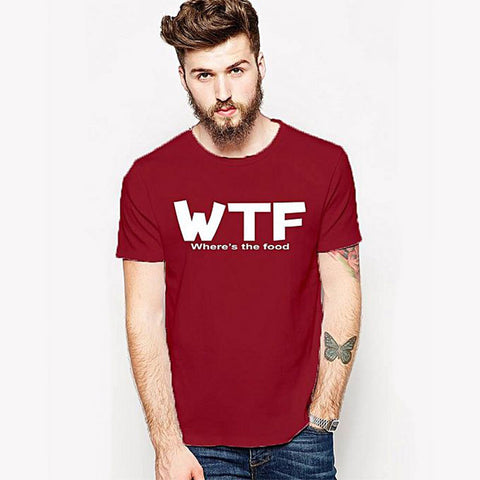 WTF - Round neck t-shirt for Men - Red