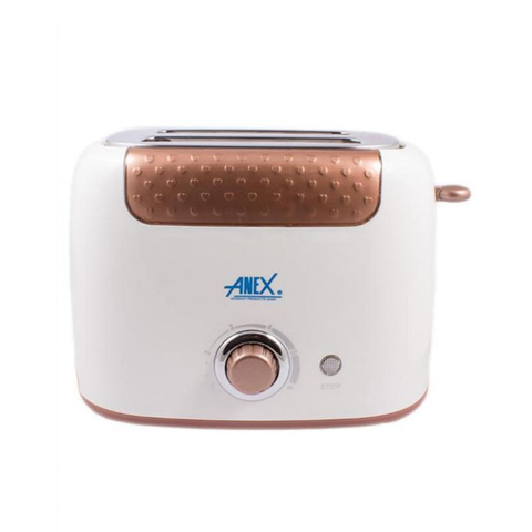 Anex - Deluxe 2 Slice Toaster - AG-3001 - Brown & White
