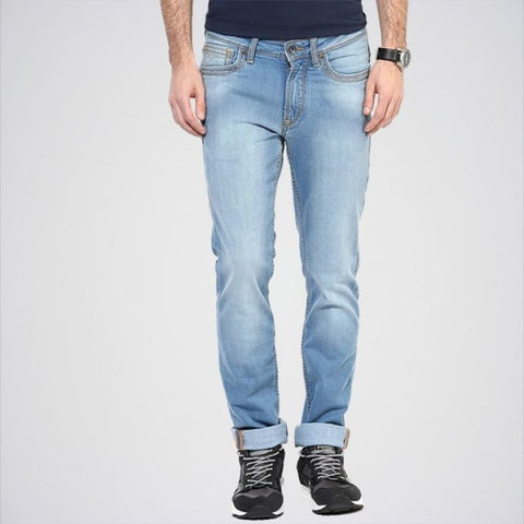 The Ajmery Men's Flying Machine Skinny Fit Jeans - Blue