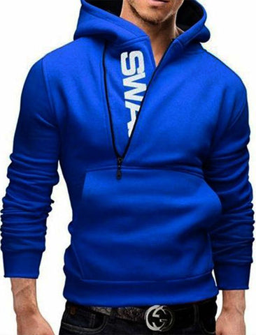 The Ajmery - Fleece Swag Hoodie For Men - Blue